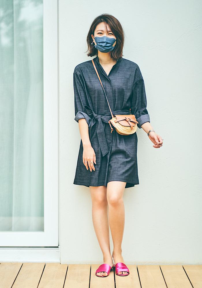 マスクをファッションの一部とし