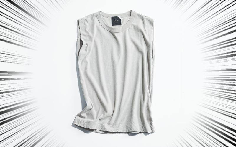 ファッション誌に3年連続掲載の「超名品服」【細見えノースリT】