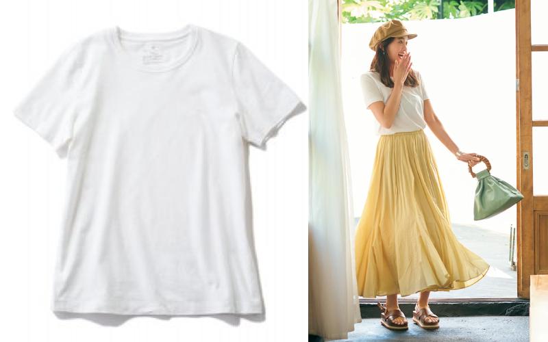 【¥990】無印良品「白Tシャツ」着回しコーデ9選