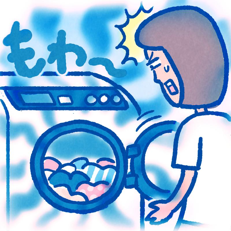 部屋干しの後の生乾き臭、何度洗