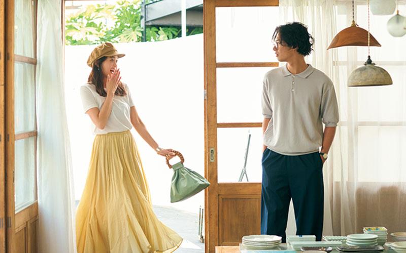 アラサー女子の「夏のスカートコーデ」【今日の着回しDiary】