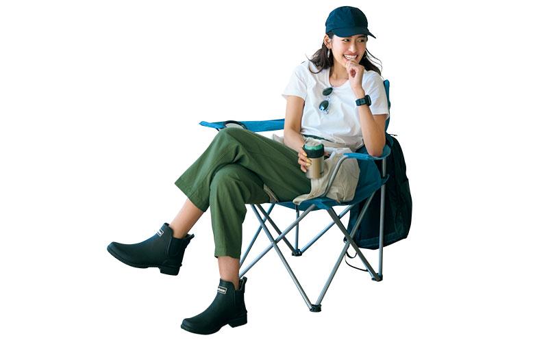 アラサー女子の「無印Tシャツ」でアウトドアコーデ【今日の着回しDiary】