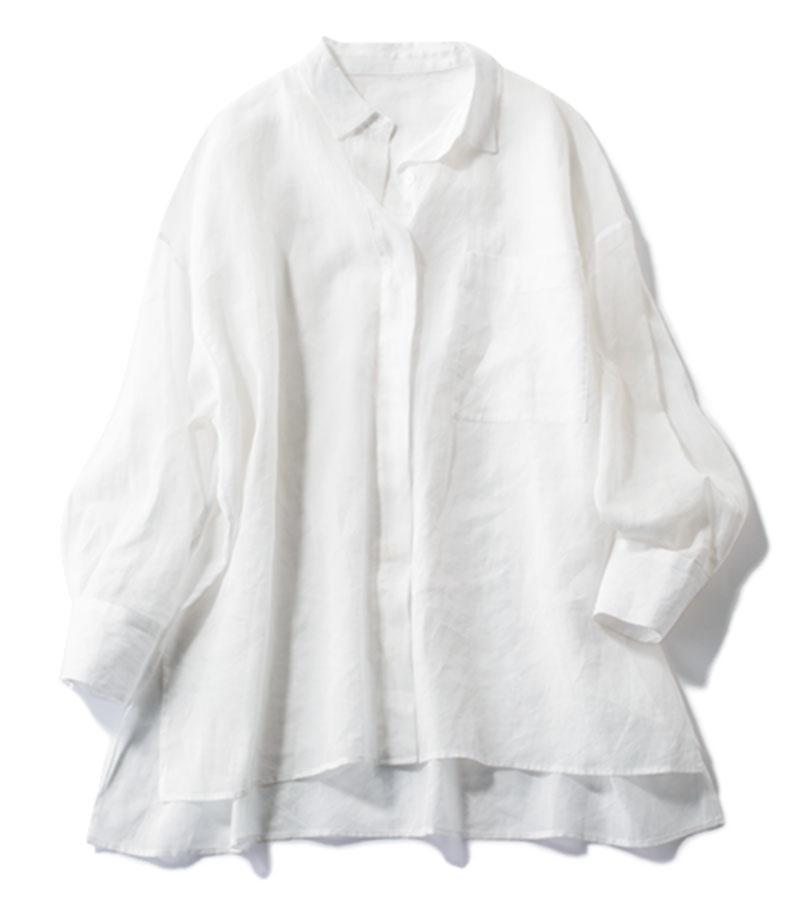 【10】シアーシャツ みんなをまとめる永遠のベーシック服 どんなボトムスもピシッと締まる!¥28,600 (サクラ/インターリブ)