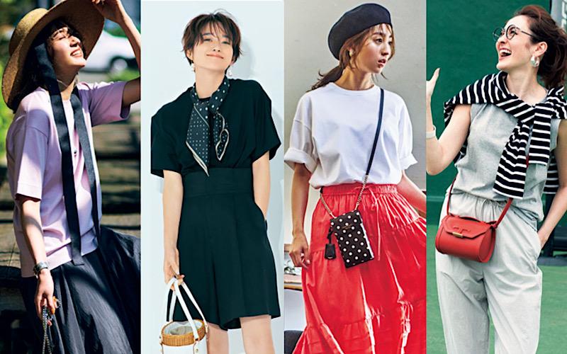 大人女子の「無地Tシャツ」コーデ12選【白、黒、グレー…】