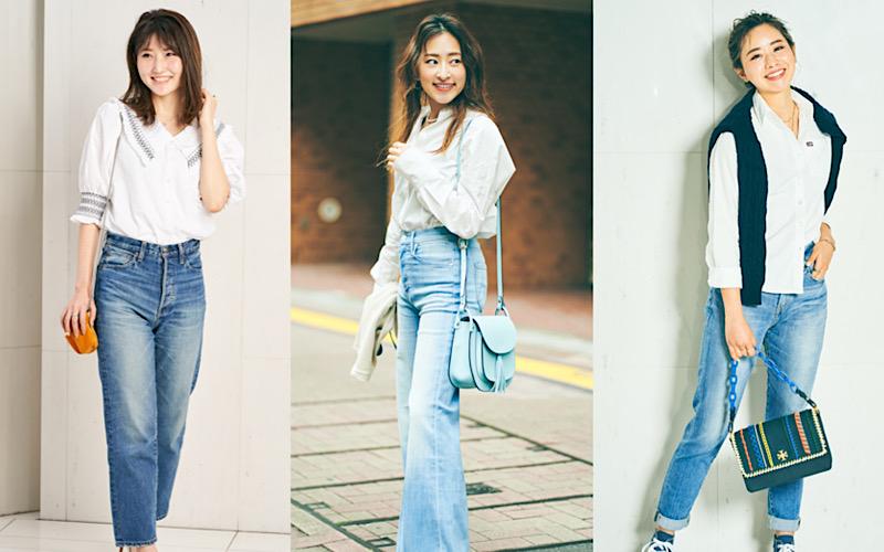 アラサー女子がリアルにしている「白シャツ&デニム」コーデ3選