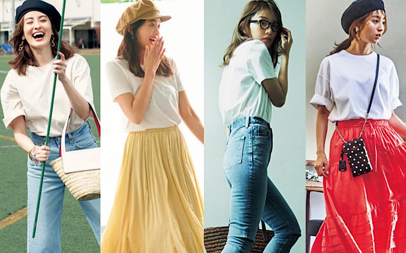「無地の白Tシャツ」なのに素敵に見える、大人の猛暑コーデ7選