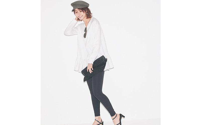 【今日の服装】おばさん見えしない「黒レギンス」コーデのコツは?【アラサー女子】