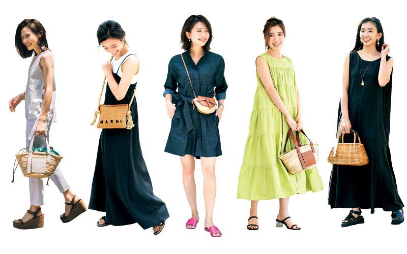 アラサー女子の「夏のカゴバッグスナップ」5選【読者SNAP】
