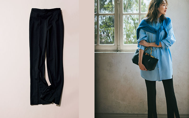 秋服ノープランの大人女子が「まず買うべき服」【スリットパンツ】
