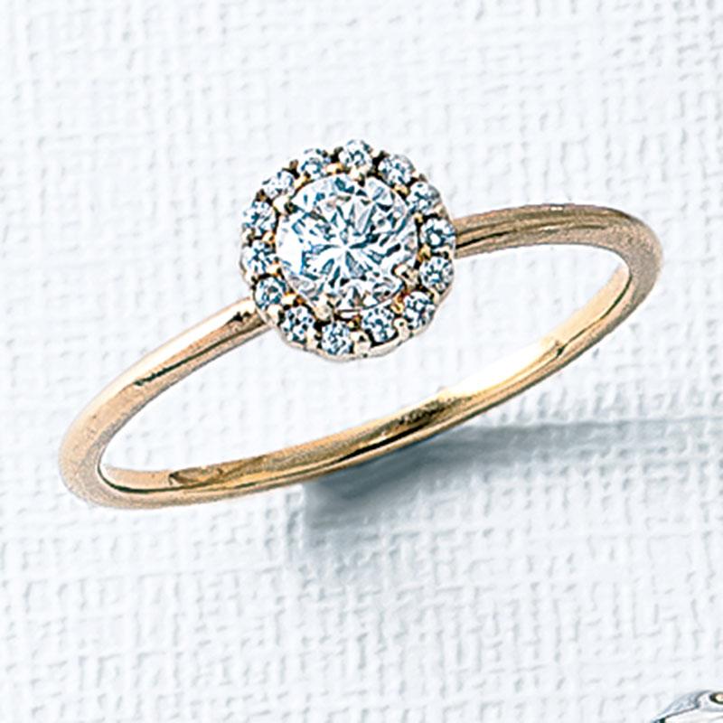 キラリと一粒ダイヤが輝くソリテ