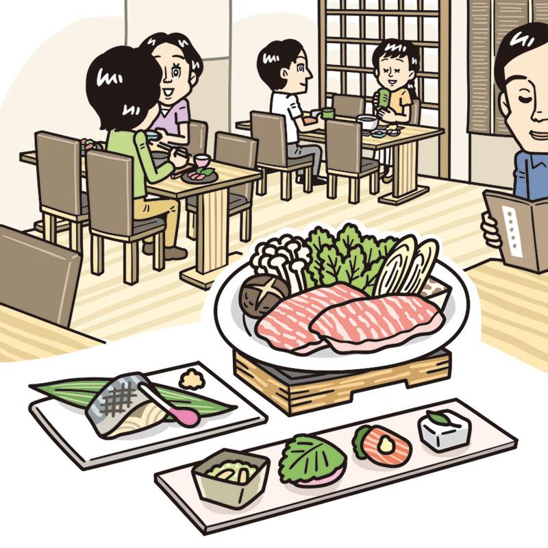 胃も雰囲気も落ち着く和食で安心