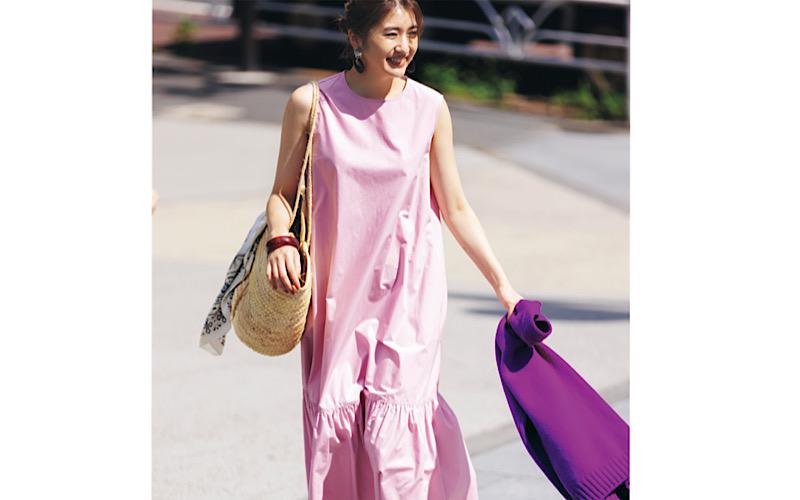 【今日の服装】イタく見えない「ピンクワンピ」コーデって?【アラサー女子】