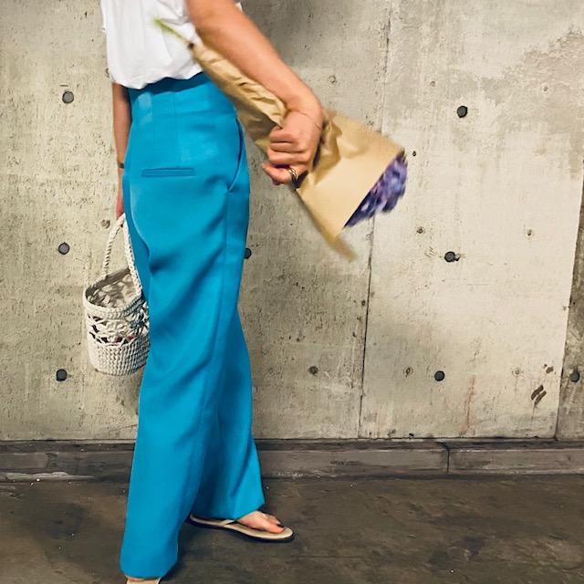 【ZARA】154㎝編集、この夏一番の褒められ服はSALEで買ったカラーパンツ