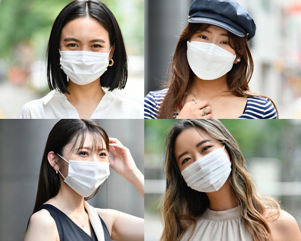 【ボブ、ロング】不織布マスクでもオシャレ見えする「大人ヘア」4選