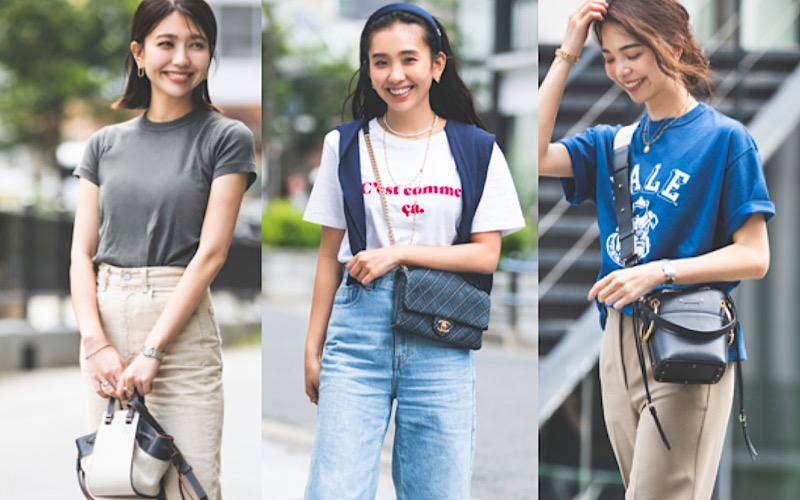 大人女子の「晩夏のTシャツコーデ」読者リアル実例3選