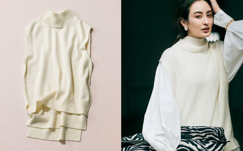 秋服ノープランの大人女子が「まず買うべき服」【ニットベスト】