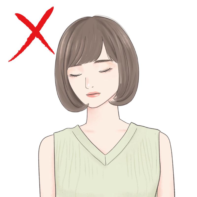 ●前髪がないショートボブは、髪