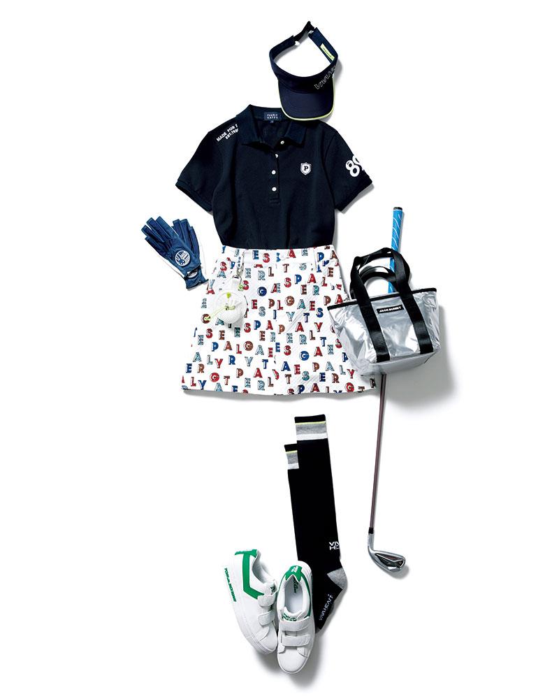 POPなスカートを軸に「ゴルフ