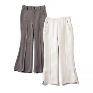 右/OLの定番白パンツは、今買