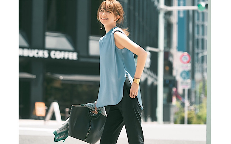 【今日の服装】「黒パンツ」をフェミニンに穿くなら?【アラサー女子】