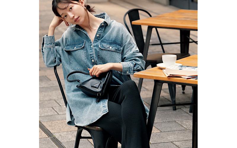 【今日の服装】Gジャンより今っぽい「デニムシャツ」コーデって?【アラサー女子】