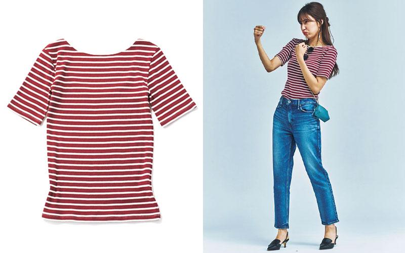アラサー女子におすすめの「ボーダーTシャツ」着回しコーデ6選