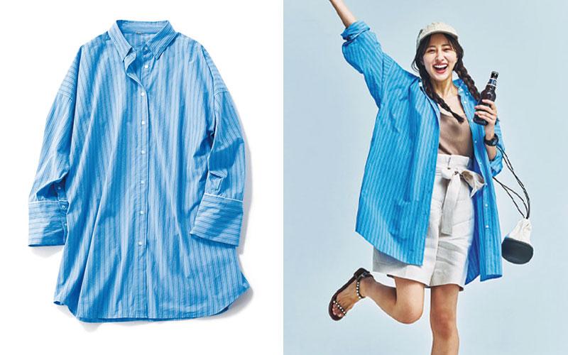 アラサー女子におすすめの「ビッグシャツ」着回しコーデ6選