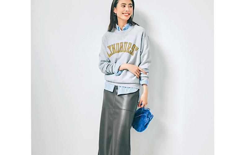 【今日の服装】初心者にちょうどいい「レザースカート」コーデって?【アラサー女子】
