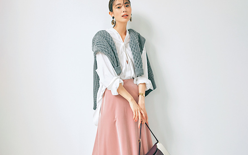 【今日の服装】イタく見えない大人の「ピンクスカート」コーデって?【アラサー女子】