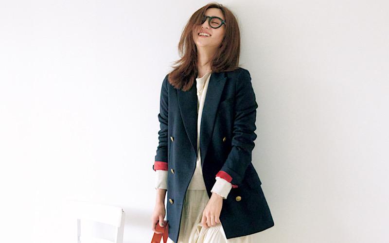 【今日の服装】古くない「紺ブレ」コーデのコツは?【アラサー女子】