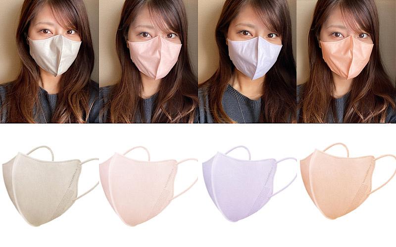 【不織布マスク】マキアージュ「小顔&血色マスク」を全色試してみた!【11月21日発売】